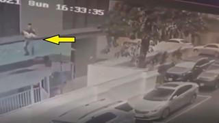 Góc quay rõ nét màn cứu bé gái 2 tuổi của anh Nguyễn Ngọc Mạnh
