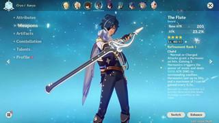 Genshin Impact: Cách nhận, chỉ số và nhân vật phù hợp với kiếm The Flute