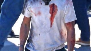 Brad Pitt gây hốt hoảng khi xuất hiện với cơ thể đầy máu trên phim trường Bullet train