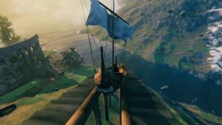 Khi game thủ Valheim trổ tài kiến trúc sư, xây hẳn tàu lượn siêu tốc