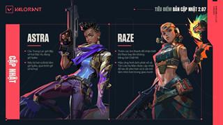 Valorant: Chi tiết bản cập nhật 2.07 - Thay đổi tăng sức mạnh cho Astra, Raze và Viper