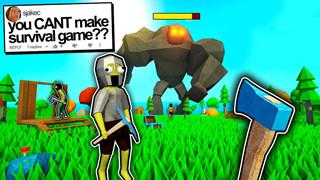 Muck - Tựa game sinh tồn phong cách Minecraft được tạo ra từ một thách thức trên Youtube