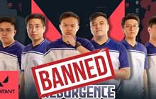 Một đội tuyển VALORANT bị cấm thi đấu vì có hành vi dàn xếp tỷ số