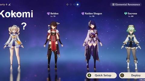 Genshin Impact: Hướng dẫn đội hình Kokomi mạnh nhất cho tân thủ và End game nên dùng