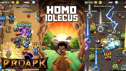 Hóa thân người tiền sử khám phá các hầm ngục cực thú vị trong Homo Idlecus