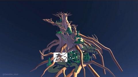 Genshin Impact: Leaker tiếp tục hé lộ thiết kế sơ bộ của đất nước Sumeru kế tiếp - Thành phố quanh thân cây khổng lồ