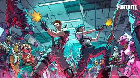 Hai nhân vật chính của seri Resident Evil đã có mặt trong Fortnite